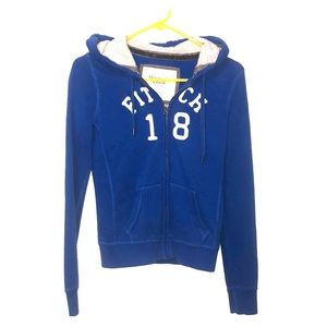 Abercrombie and fitch royal blue zip sweatshirt